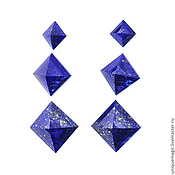 Материалы для творчества handmade. Livemaster - original item Lapis. Royal cut. A set of earrings.. Handmade.