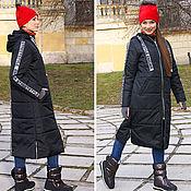 Одежда handmade. Livemaster - original item Black long women`s coat, loose warm coat, over sized coat. Handmade.