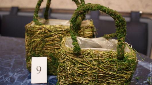 Материалы для флористики ручной работы. Ярмарка Мастеров - ручная работа. Купить сумочка из сухих трав. Handmade. Комбинированный, корзинка, сумочка