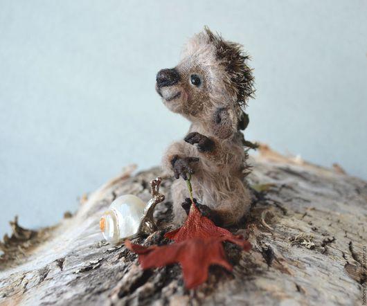 Мишки Тедди ручной работы. Ярмарка Мастеров - ручная работа. Купить Ежик в тумане. Handmade. Ежик, теддик, oak