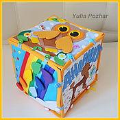 Кукольная еда ручной работы. Ярмарка Мастеров - ручная работа ПУДЕЛЬ (Развивающий кубик - конструктор) 1-4года. Handmade.