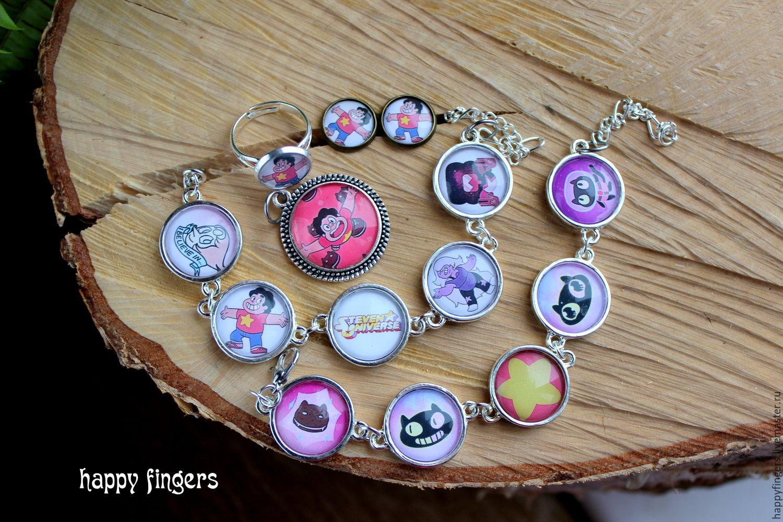 Steven Universe garnet jewelry, Jewelry Sets, Elektrostal,  Фото №1