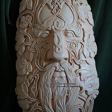 Для дома и интерьера ручной работы. Ярмарка Мастеров - ручная работа Барельеф из дерева Кельтский человек. Handmade.