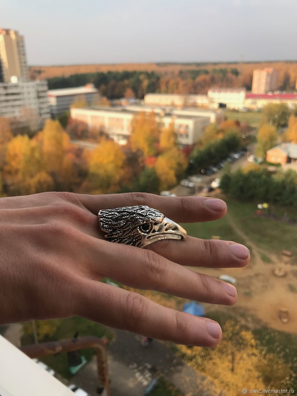 Vintage men's ring, 'eagle', handmade, Tibet, Vintage ring, Arnhem,  Фото №1