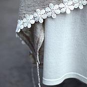Одежда ручной работы. Ярмарка Мастеров - ручная работа Летняя белая бохо юбка- компаньон. Handmade.