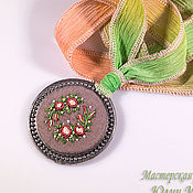Украшения handmade. Livemaster - original item Embroidered pendant Josephine. Handmade.