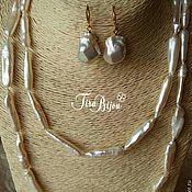 Украшения handmade. Livemaster - original item Luxurious necklace with pearls Biwa. Handmade.
