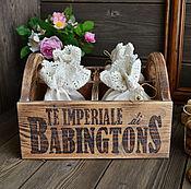 """Для дома и интерьера ручной работы. Ярмарка Мастеров - ручная работа """"Возвращение в Бабингтон"""" Короб с мешочками. Handmade."""