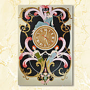 Для дома и интерьера handmade. Livemaster - original item Large wall clock with gold enamel in the style of the Great Gatsby. Handmade.