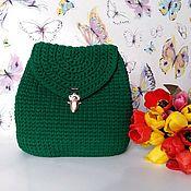 Рюкзаки ручной работы. Ярмарка Мастеров - ручная работа Вязанный женский рюкзак. Handmade.