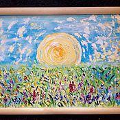 Картины и панно handmade. Livemaster - original item Pours Golden dawn.(oil on canvas). Handmade.