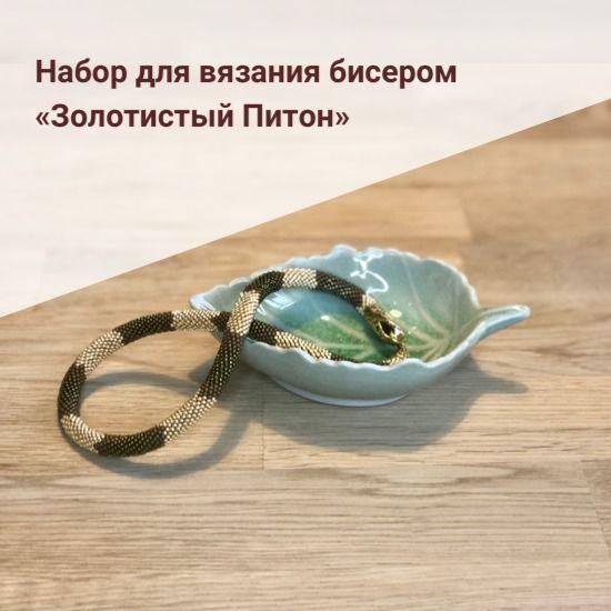 Набор для вязания бисером «Золотистый Питон», Инструменты для вязания, Санкт-Петербург,  Фото №1