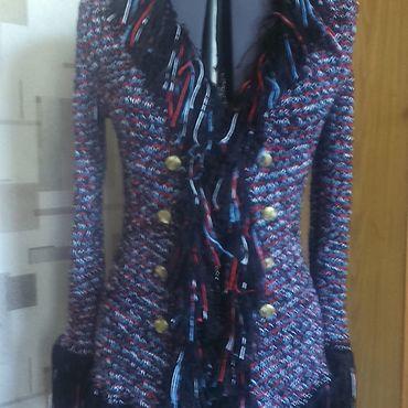 Одежда ручной работы. Ярмарка Мастеров - ручная работа Жакеты: Жакет с бахромой. Handmade.