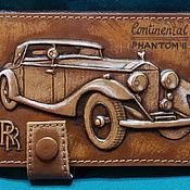 """Визитницы ручной работы. Ярмарка Мастеров - ручная работа Обложка для водительских прав """"Rolls-Royce Phantom II"""". Handmade."""