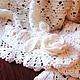 Пледы и одеяла ручной работы. Плед для новорожденного Нежность розы  с повязкой. Caramellita. Интернет-магазин Ярмарка Мастеров. Плед для новорожденного