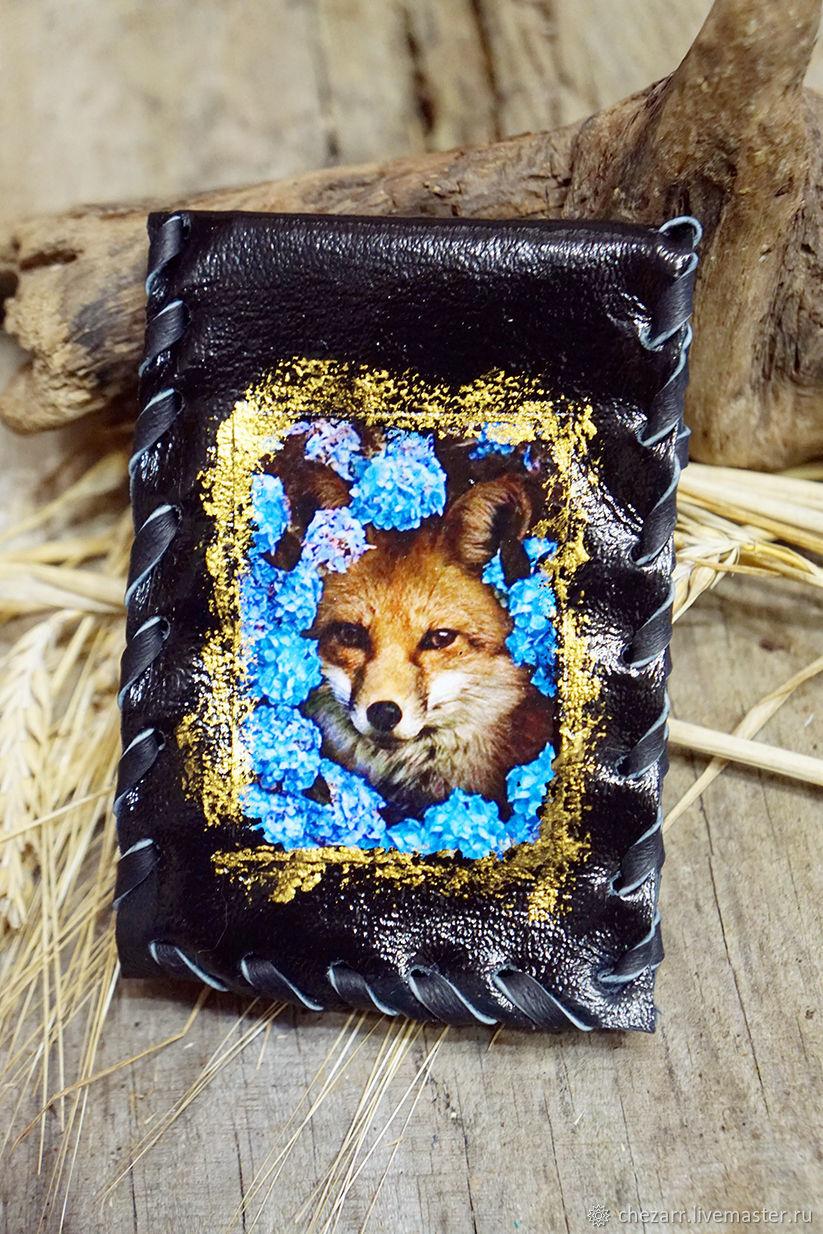Cardholders 'Fox in blue colors', Business card holders, Chelyabinsk,  Фото №1