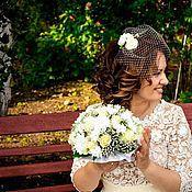 Свадебный салон ручной работы. Ярмарка Мастеров - ручная работа Вуалетка с розами. Handmade.