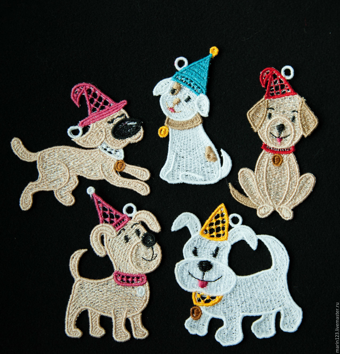 dog 2018 caps 1 a set of christmas ornaments shop online on