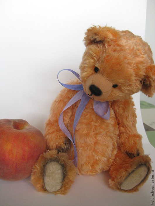 Мишки Тедди ручной работы. Ярмарка Мастеров - ручная работа. Купить Персик. Handmade. Рыжий, глаза стеклянные, миништоф