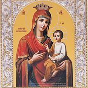 Русский стиль handmade. Livemaster - original item Quick to hear icon of the Mother of God (14h18sm). Handmade.