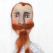 Куклы и игрушки handmade. Livemaster - original item Textile scented doll Man with beard and a dream!. Handmade.