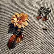 Украшения handmade. Livemaster - original item Brooch pin Autumn ( gift). Handmade.