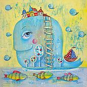 Картины и панно ручной работы. Ярмарка Мастеров - ручная работа Чудо-юдо Рыба-кит. Handmade.