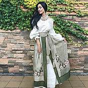 handmade. Livemaster - original item Ethno-costume with hand embroidery