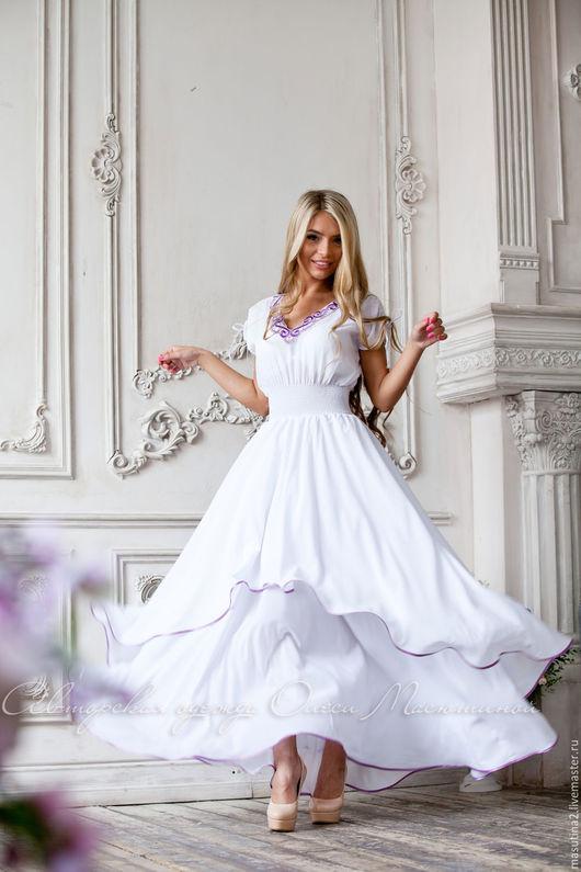"""Платья ручной работы. Ярмарка Мастеров - ручная работа. Купить Платье """"Олимпия"""". Handmade. Белый, дизайнерская одежда"""