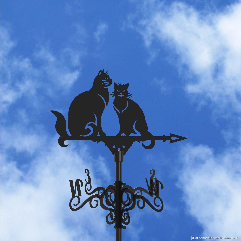 Weather vane on the roof ' Two cats ', Vane, Ivanovo,  Фото №1
