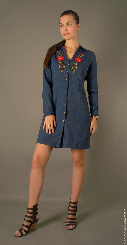 Джинсовое платье туника доставка