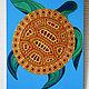 Животные ручной работы. Ярмарка Мастеров - ручная работа. Купить Золотая черепаха, мирно и безмятежно плывущая в синих водах океана. Handmade.