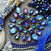 Материалы для творчества handmade. Livemaster - original item Crystals: Set of materials Blueberry. Handmade.