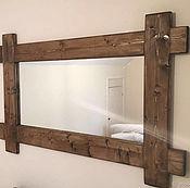 Для дома и интерьера ручной работы. Ярмарка Мастеров - ручная работа Зеркало  в стиле рустик / лофт. Handmade.