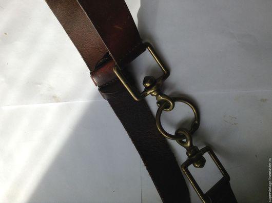 Винтажная одежда и аксессуары. Ярмарка Мастеров - ручная работа. Купить Donna Karan кожаный ремень, оригинал. Handmade. Коричневый, оригинал