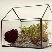 Цветы и флористика handmade. Livemaster - original item Florarium para las plantas. La casita. Geométrica florero para florariuma. Handmade.