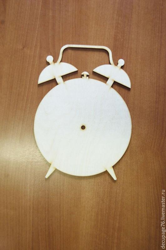 Часы `Будильник` Размер: 30х22 см  Материал: фанера 3 мм