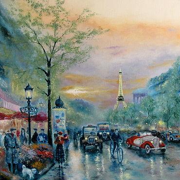 Картины и панно ручной работы. Ярмарка Мастеров - ручная работа Улицы Парижа. Handmade.