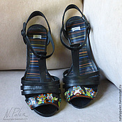 Обувь ручной работы handmade. Livemaster - original item Painting on shoes. Sandals
