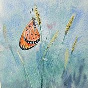 """Картины и панно ручной работы. Ярмарка Мастеров - ручная работа Картина акварелью """"Осенняя бабочка"""". Handmade."""
