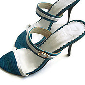 """Обувь ручной работы. Ярмарка Мастеров - ручная работа Босоножки """"Бирюзовая крокодила"""". Handmade."""