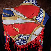 Винтаж handmade. Livemaster - original item Summer scarf with lace,Germany. Handmade.