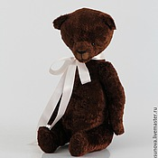 Куклы и игрушки ручной работы. Ярмарка Мастеров - ручная работа Мишка тедди Шоколадный Брауни - мягкая игрушка. Handmade.