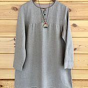 Одежда handmade. Livemaster - original item Shirts:Linen undershirt