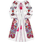 """Одежда ручной работы. Ярмарка Мастеров - ручная работа Платье с клиньями """"Цветущая Мальва"""". Handmade."""