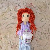 Для дома и интерьера ручной работы. Ярмарка Мастеров - ручная работа Хранительница ватных дисков и палочек - Рыжулька. Handmade.