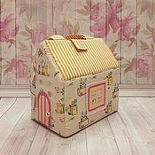 Кукольные домики ручной работы. Ярмарка Мастеров - ручная работа Домик-сумочка. Handmade.