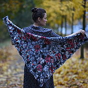 handmade. Livemaster - original item Neck scarf warm big November Fog. Handmade.