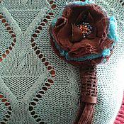 Украшения ручной работы. Ярмарка Мастеров - ручная работа Текстильное колье «Рита». Handmade.