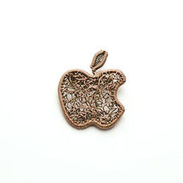 Украшения ручной работы. Ярмарка Мастеров - ручная работа Брошь медная Яблоко Apple брошь wire wrap брошь медь кибер. Handmade.